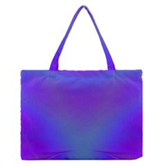 Violet Fractal Background Medium Zipper Tote Bag