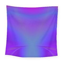Violet Fractal Background Square Tapestry (large)