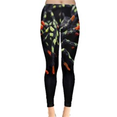 Colorful Spiders For Your Dark Halloween Projects Leggings