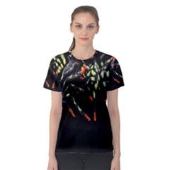 Colorful Spiders For Your Dark Halloween Projects Women s Sport Mesh Tee