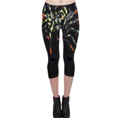 Colorful Spiders For Your Dark Halloween Projects Capri Leggings
