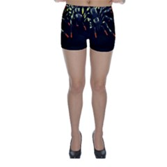 Colorful Spiders For Your Dark Halloween Projects Skinny Shorts