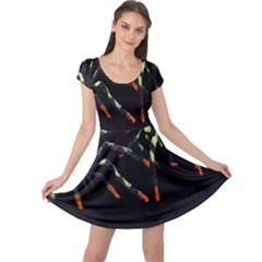 Colorful Spiders For Your Dark Halloween Projects Cap Sleeve Dresses