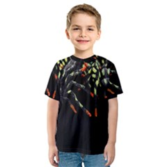 Colorful Spiders For Your Dark Halloween Projects Kids  Sport Mesh Tee