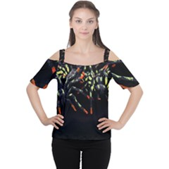 Colorful Spiders For Your Dark Halloween Projects Women s Cutout Shoulder Tee