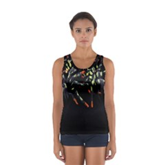 Colorful Spiders For Your Dark Halloween Projects Women s Sport Tank Top