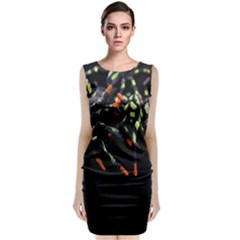 Colorful Spiders For Your Dark Halloween Projects Classic Sleeveless Midi Dress