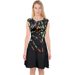 Colorful Spiders For Your Dark Halloween Projects Capsleeve Midi Dress