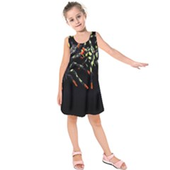 Colorful Spiders For Your Dark Halloween Projects Kids  Sleeveless Dress