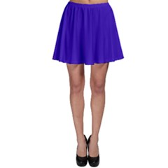 Blue Fractal Square Button Skater Skirt