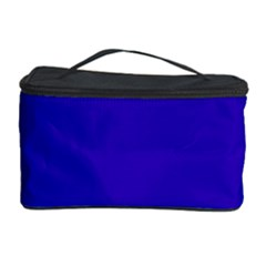 Blue Fractal Square Button Cosmetic Storage Case