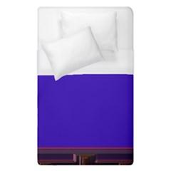 Blue Fractal Square Button Duvet Cover (single Size)