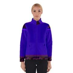Blue Fractal Square Button Winterwear