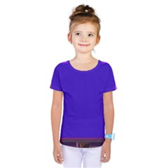 Blue Fractal Square Button Kids  One Piece Tee