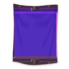 Blue Fractal Square Button Medium Tapestry