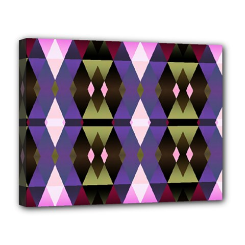 Geometric Abstract Background Art Canvas 14  X 11