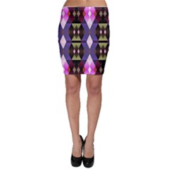 Geometric Abstract Background Art Bodycon Skirt