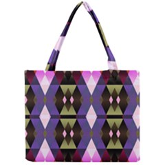 Geometric Abstract Background Art Mini Tote Bag
