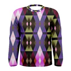 Geometric Abstract Background Art Men s Long Sleeve Tee