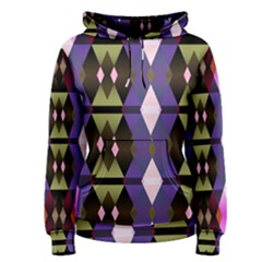 Geometric Abstract Background Art Women s Pullover Hoodie