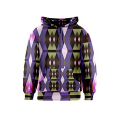 Geometric Abstract Background Art Kids  Zipper Hoodie