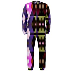 Geometric Abstract Background Art Onepiece Jumpsuit (men)