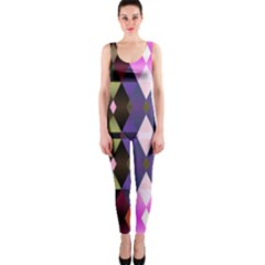 Geometric Abstract Background Art OnePiece Catsuit