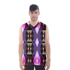 Geometric Abstract Background Art Men s Basketball Tank Top