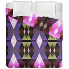 Geometric Abstract Background Art Duvet Cover Double Side (california King Size)