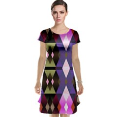 Geometric Abstract Background Art Cap Sleeve Nightdress