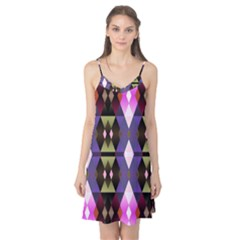 Geometric Abstract Background Art Camis Nightgown