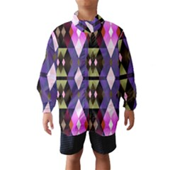 Geometric Abstract Background Art Wind Breaker (kids)