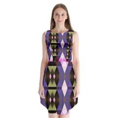 Geometric Abstract Background Art Sleeveless Chiffon Dress