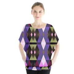 Geometric Abstract Background Art Blouse