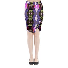 Geometric Abstract Background Art Midi Wrap Pencil Skirt