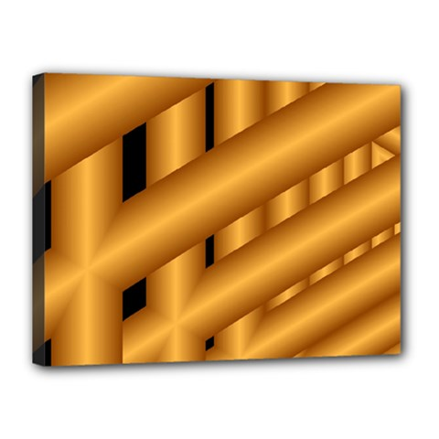 Fractal Background With Gold Pipes Canvas 16  X 12