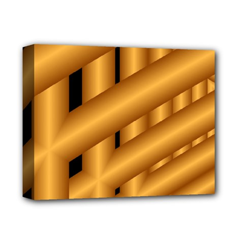 Fractal Background With Gold Pipes Deluxe Canvas 14  x 11