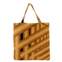 Fractal Background With Gold Pipes Grocery Tote Bag