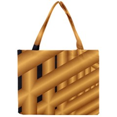 Fractal Background With Gold Pipes Mini Tote Bag