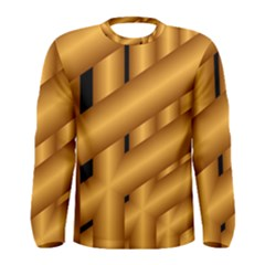 Fractal Background With Gold Pipes Men s Long Sleeve Tee
