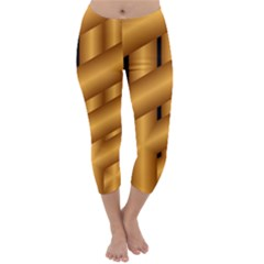 Fractal Background With Gold Pipes Capri Winter Leggings