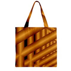 Fractal Background With Gold Pipes Zipper Grocery Tote Bag