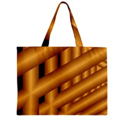 Fractal Background With Gold Pipes Zipper Mini Tote Bag