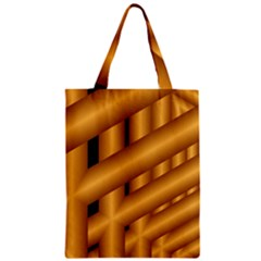 Fractal Background With Gold Pipes Zipper Classic Tote Bag