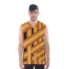 Fractal Background With Gold Pipes Men s Basketball Tank Top