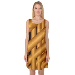 Fractal Background With Gold Pipes Sleeveless Satin Nightdress