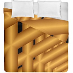 Fractal Background With Gold Pipes Duvet Cover Double Side (king Size)