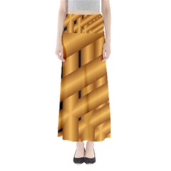 Fractal Background With Gold Pipes Maxi Skirts