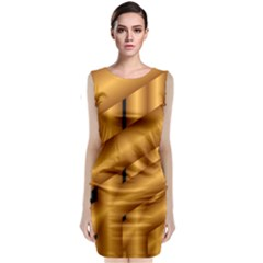 Fractal Background With Gold Pipes Classic Sleeveless Midi Dress