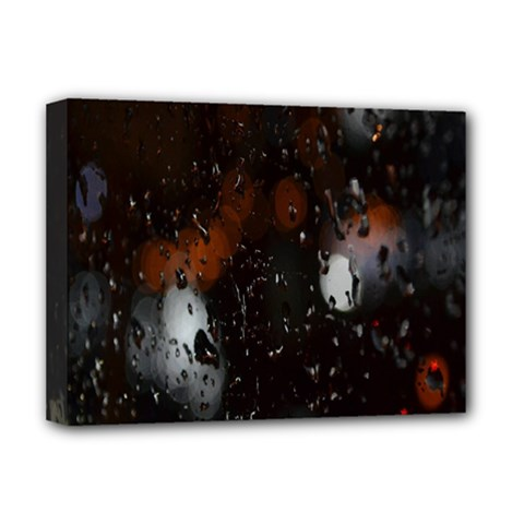 Lights And Drops While On The Road Deluxe Canvas 16  X 12